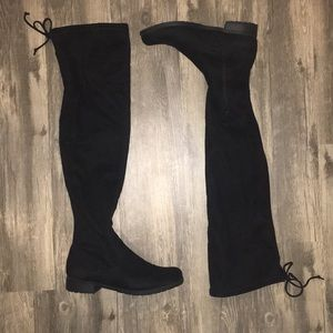 Trendy Black Over the Knee Boot